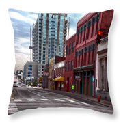 Street Photography Nashville Tn Throw Pillow
