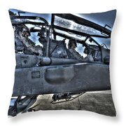 Hdr Image Of Pilots Equipped Throw Pillow