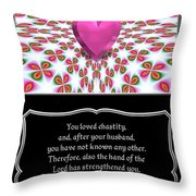 Heart And Love Design 16 With Bible Quote Throw Pillow