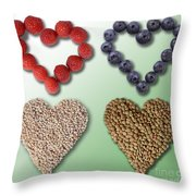 Heart-healthy Foods Throw Pillow