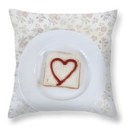 Hearty Toast Throw Pillow