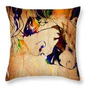 Heath Ledger The Joker Collection Throw Pillow