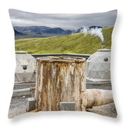 Hellisheidi Power Station Well Throw Pillow