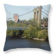 Hennepin Bridge Throw Pillow