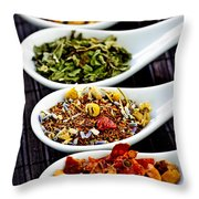 Herbal Teas Throw Pillow