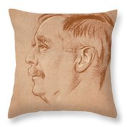 Herbert George Wells (1866-1946) Throw Pillow