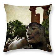 'hermanos' In The Valley Of The Temples Throw Pillow