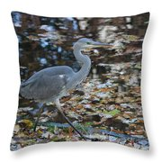 Heron On The River Throw Pillow