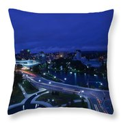 High Angle View Of A City, Big Spring Throw Pillow
