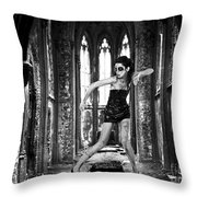 High Fashion Abandoned Church Throw Pillow