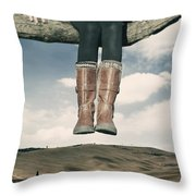 High Over The World Throw Pillow