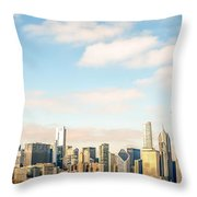 High Resolution Large Photo Of Chicago Skyline Throw Pillow