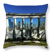 High Rise Buildings In Houston Throw Pillow