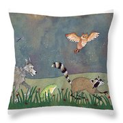Hilda Wasn't Alone Anymore. Throw Pillow