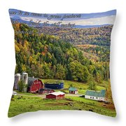 Hillside Acres Farm Throw Pillow
