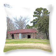 Hilltop Barn Throw Pillow
