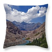Himalayan Scenery... Throw Pillow