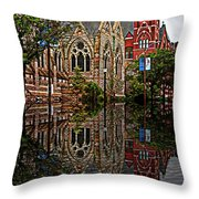 Historic Church St Louis Mo 2 Throw Pillow