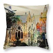 Historic Churches St Louis Mo - Digital Effect 7 Throw Pillow