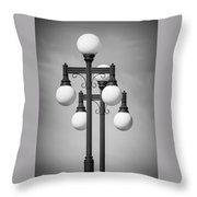 Historic Ybor Lamp Posts Throw Pillow