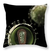 Hiv Structure Throw Pillow
