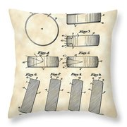 Hockey Puck Patent 1940 - Vintage Throw Pillow