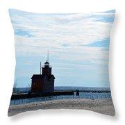 Holland Lighthouse Throw Pillow