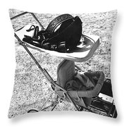 Holster  Brief Case  Baby Carriage Tombstone Arizona 1970 Throw Pillow