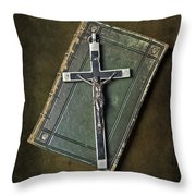 Holy Book Throw Pillow by Joana Kruse