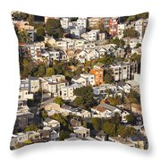 Homes Of San Francisco Throw Pillow
