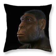 Homo Erectus Throw Pillow