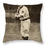 Honus Wagner (1874-1955) Throw Pillow
