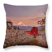 Hood River Sunrise Throw Pillow by Darren  White
