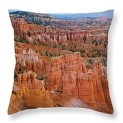 Hoodoo Rock Formations In A Canyon Throw Pillow