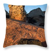Hoodoos At Sunset Throw Pillow