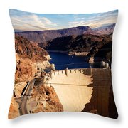 Hoover Dam Nevada Throw Pillow