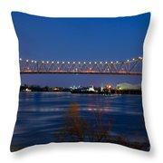 Horace Wilkinson Bridge Throw Pillow
