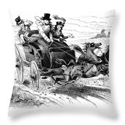 Horse-drawn Carriage Throw Pillow