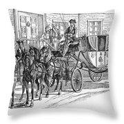 Horse-drawn Coach Throw Pillow