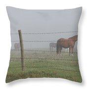 Horse Pasture Throw Pillow