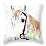 Horse Study Throw Pillow
