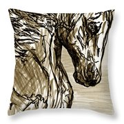 Horse Twins I Throw Pillow