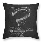 Horseshoe Patent Drawing From 1898 Throw Pillow