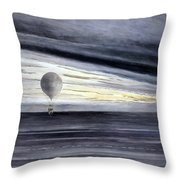 Hot Air Balloon, 1875 Throw Pillow