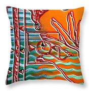 Turning Up The Heat Throw Pillow