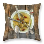 Hot Soup Throw Pillow