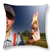 Hot Sport Throw Pillow