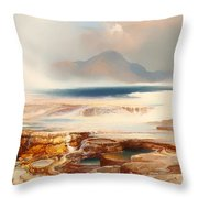 Hot Springs Of Yellowstone Throw Pillow