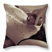 Hot Wax Foreplay Throw Pillow