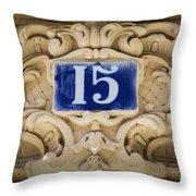 Building Number - Paris Throw Pillow